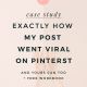 How I Made One Of My Pinterest Pins Go Viral (and you can too in just 6 easy steps!)