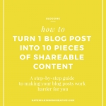 How to Turn One Blog Post Into 10 Pieces of Shareable Content