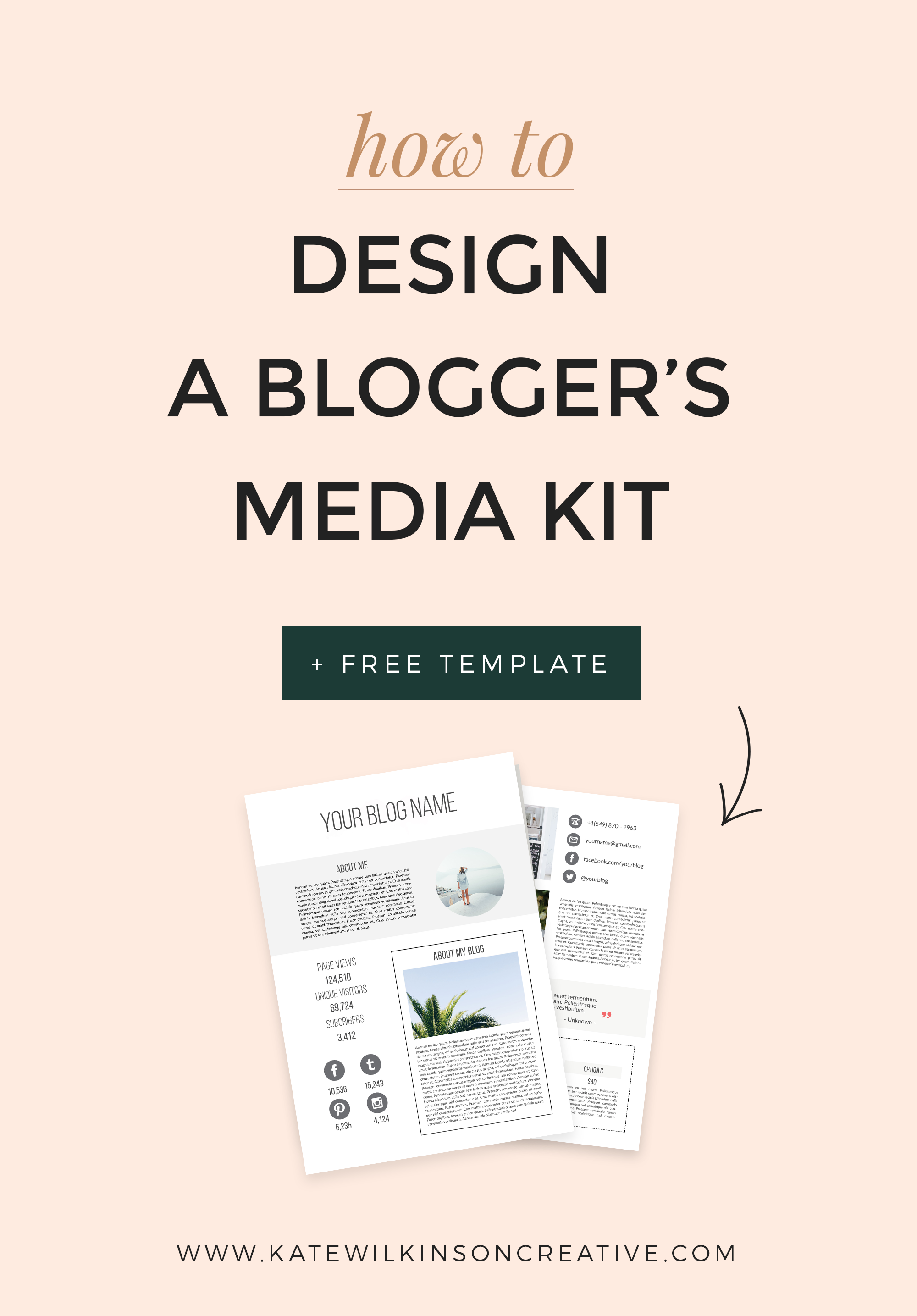How To Design A Blogger S Media Kit Includes A Free Template