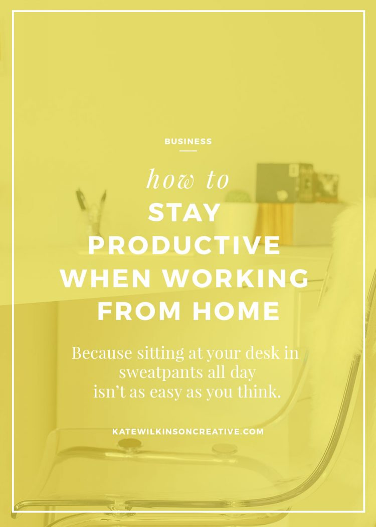 How to Stay Productive-When Working from Home