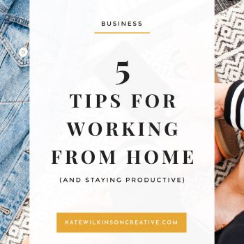5 Tips for Working from Home | How to stay productive, happy and balanced.