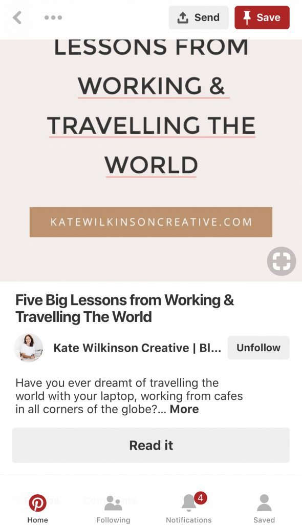 Article Rich Pin – WordPress How-To via katewilkinsoncreative.com