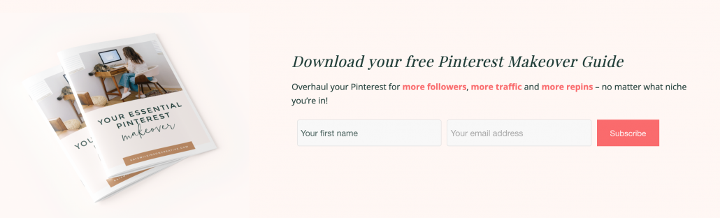 How to Promote Your Freebie On Your Website's Homepage