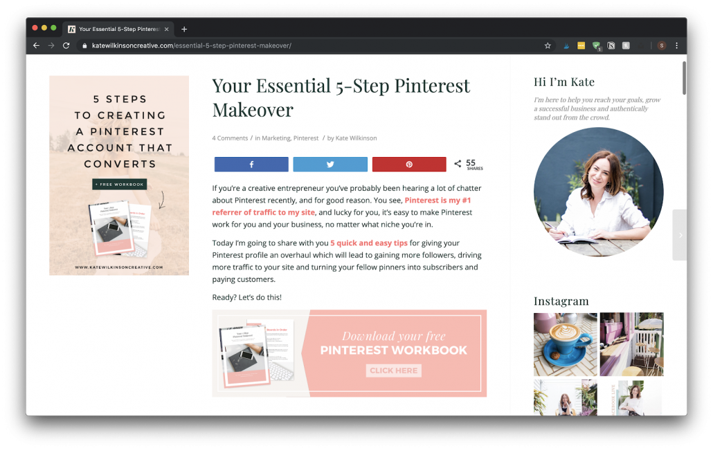 How to Promote Your Freebie Within Your Blog Post