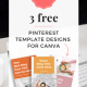 Free Pinterest Templates for Canva | Kate Wilkinson Creative #pinterest #pinteresttools