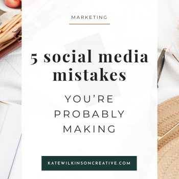 5 Social Media Mistakes You're Probably Making